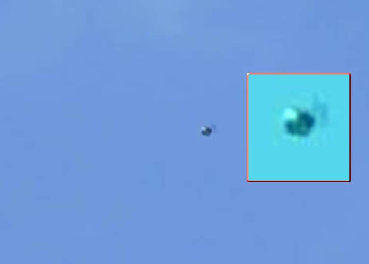 Una esfera metálica fue vista en Brasil