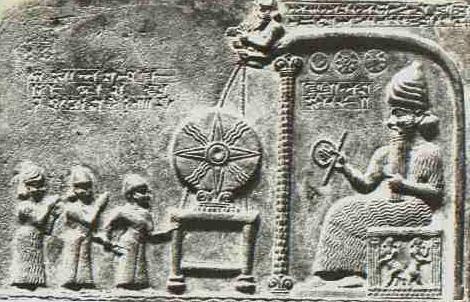 """Representación de los """"gigantes"""" Anunnaki de Sumeria."""