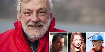 El físico del océano Peter Wadhams y los tres climatólogos presuntamente asesinados.