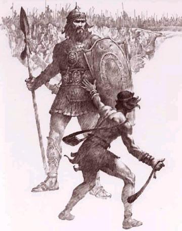 Goliath, posible descendiente indirecto de los Nephilim.