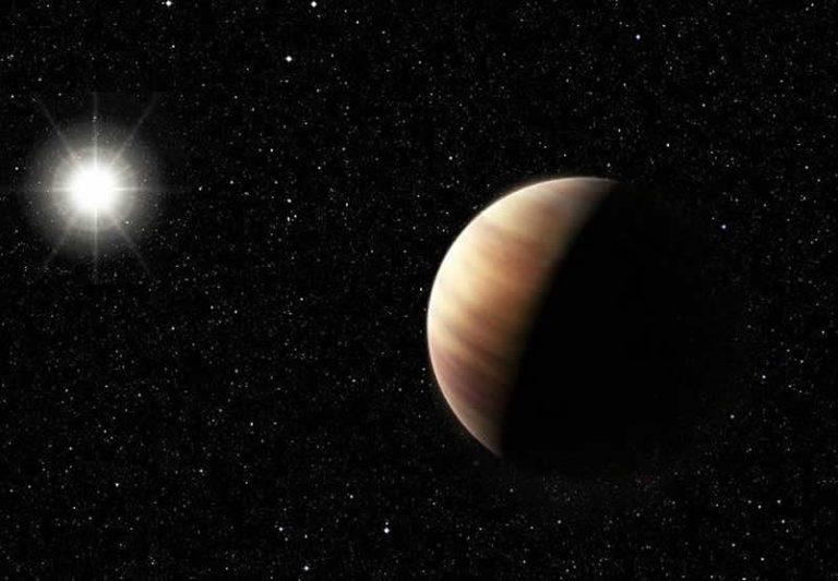 Concepción artística del planeta gemelo de Júpiter.