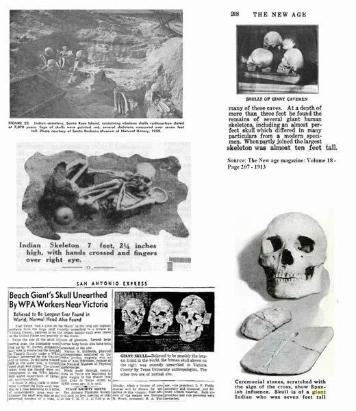 Publicaciones de otros diarios también mencionan hallazgos de esqueletos gigantes.