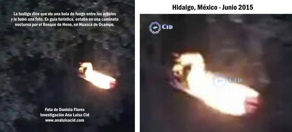Extraña y aterradora figura luminosa humanoide fotografiada en México