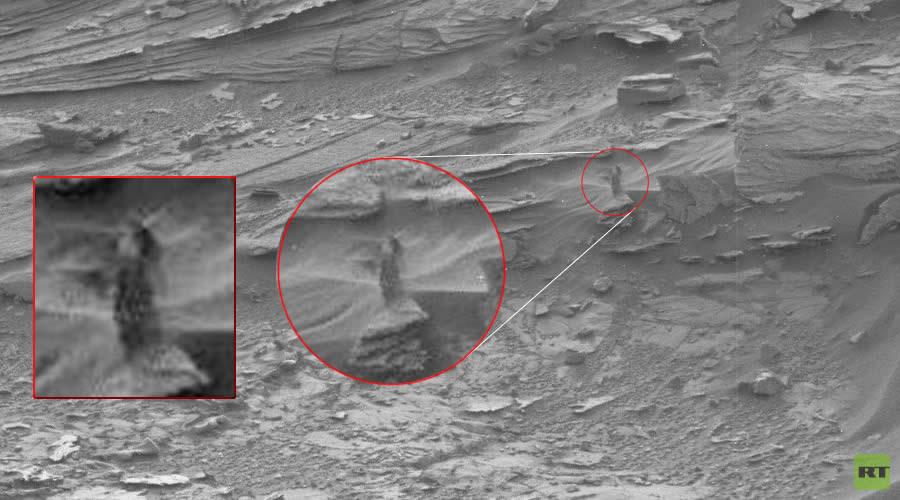 ¿Una mujer en Marte? En fotografía tomada por Curiosity