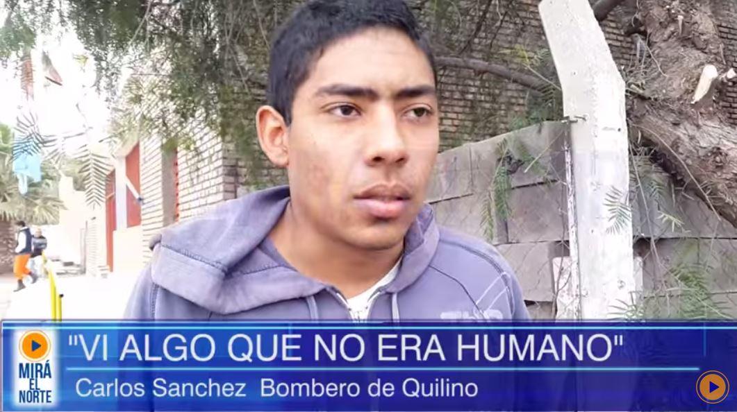 """Vídeo: Bomberos y pobladores aseguran ver un """"hombre con alas"""" en Córdoba, ARG"""