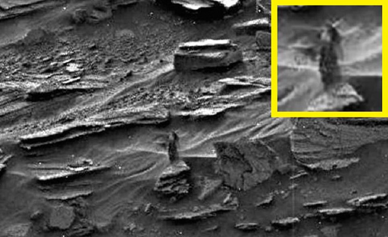 La NASA analizará la fotografía de la «mujer» en Marte