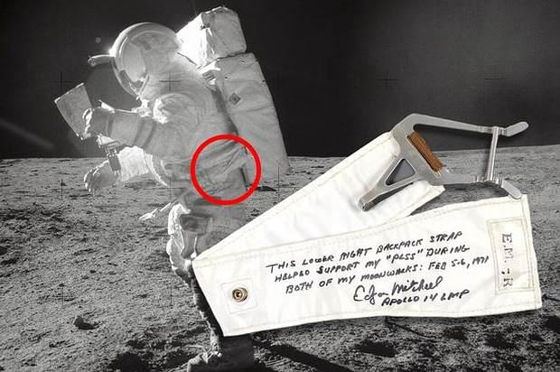 Edgar Mitchell durante su alunizaje. Apollo 14, 1971,