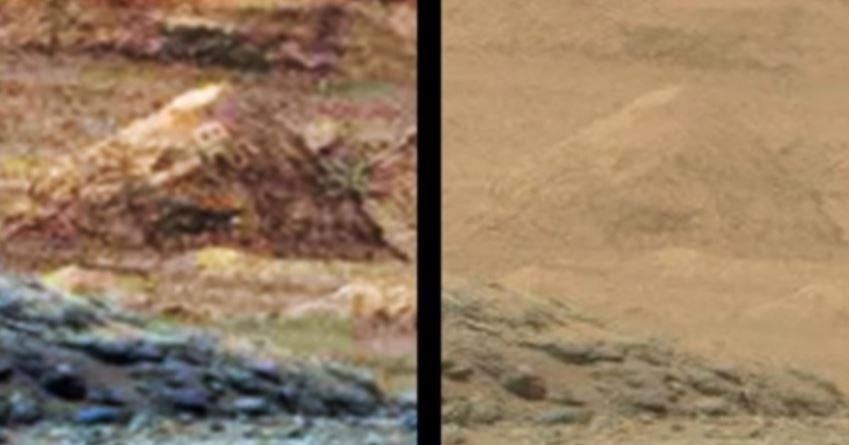 Geoglifo en Marte.