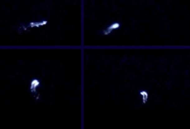 Misteriosos OVNIs flameantes captados sobre Warmisnter, Inglaterra