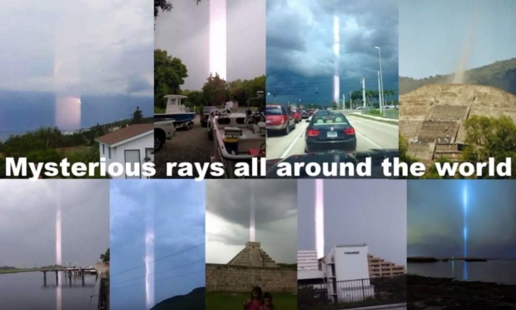 Misteriosos rayos luminosos alrededor del mundo.