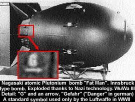 Evidencia de que la bomba atómica utilizada por EE.UU para bombardear Japón fue construida en la Alemania Nazi