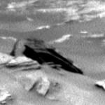 Curiosity fotografió esta extraña estructura en Marte que se asemeja mucho a una nave espacial.