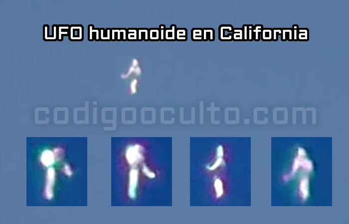 Impresionantes imágenes grabadas del UFO humanoide en California. 9 agosto 2015