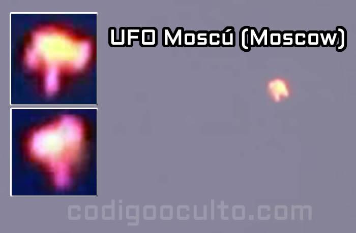 "Impresionante OVNI ""de fuego"" es captado sobre Moscu, Rusia"