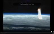 Colosal rayo de luz aparece en transmisión en vivo de la NASA