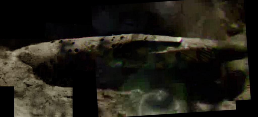 Gigantesca nave espacial extraterrestre presuntamente encontrada en la Luna