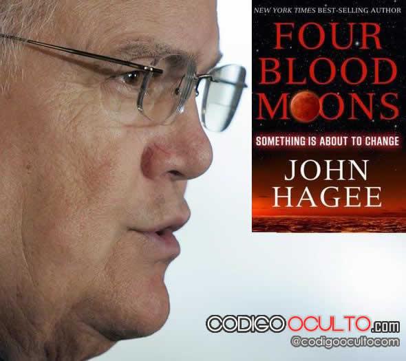 Pastor John Hagee y su libro. Crédito: AFP