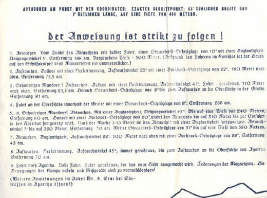 Las instrucciones oficiales nazis para llegar a Agartha