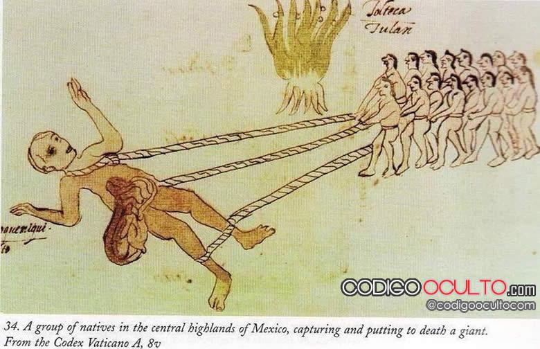 Un grupo de nativos de las montañas del centro de México capturan y asesinan un gigante.