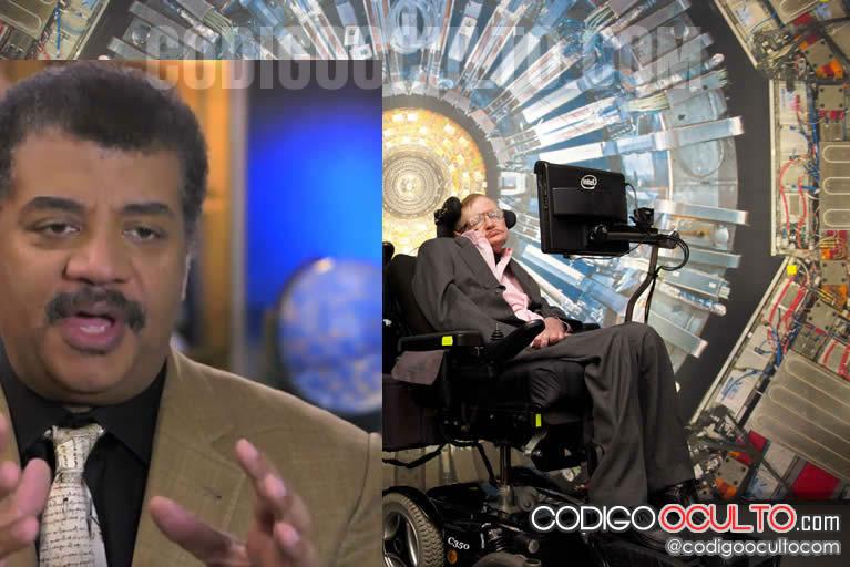 Stephen Hawking (der.) y Neil de Grasse Tyson han expresado su preocupación por lo que podría causar el LHC.