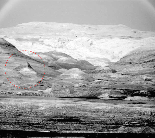 Segunda pirámide hallada en Marte
