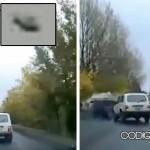 El accidente de auto posiblemente causado por un OVNI en Rusia