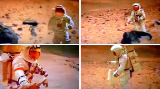 Las imágenes mostrarían a Buzz Aldrin caminando sobre la superficie de Marte