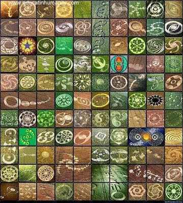Algunos círculos de las cosechas que muestran patrones geométricos muy detallados y complejos