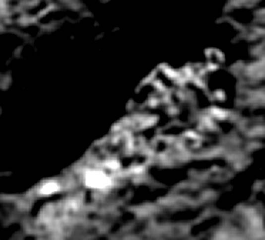 Supuesto esqueleto en cometa 67P