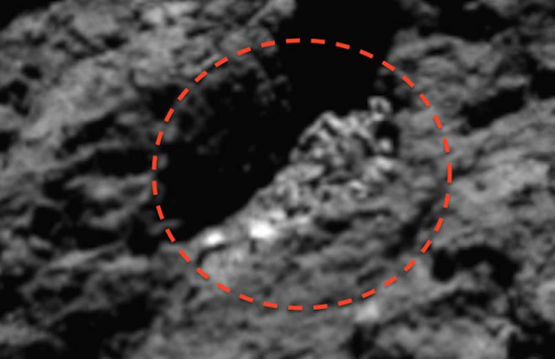 Un esqueleto extraterrestre hallado en el cometa 67P y fotografiado por sonda Rosetta