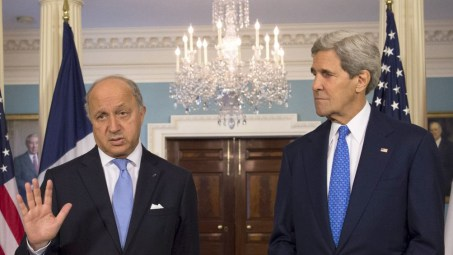 Laurent Fabius y John Kerry