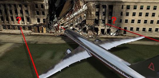 Supuesto impacto de avión contra el pentágono
