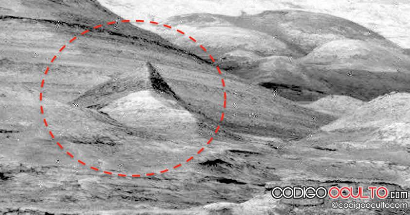 Otra pirámide en Marte fue captada por el Curiosity