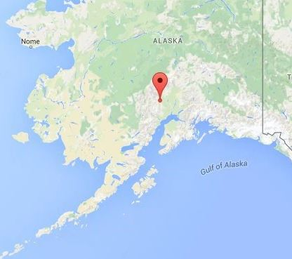 Earthquake alert Alaska, South region