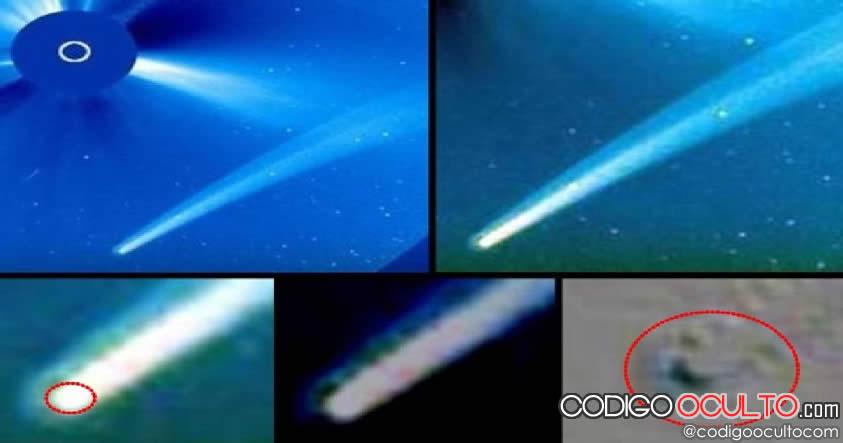 Sonda SOHO capta un masivo objeto con cola cerca del Sol