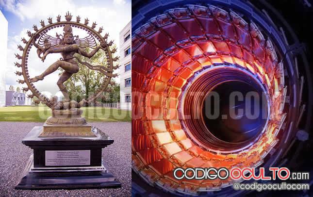 """Antigua estatua de Shiva, antigua Apollyon, el dios de la destrucción; nada más y nada menos que la """"mascota"""" del CERN."""