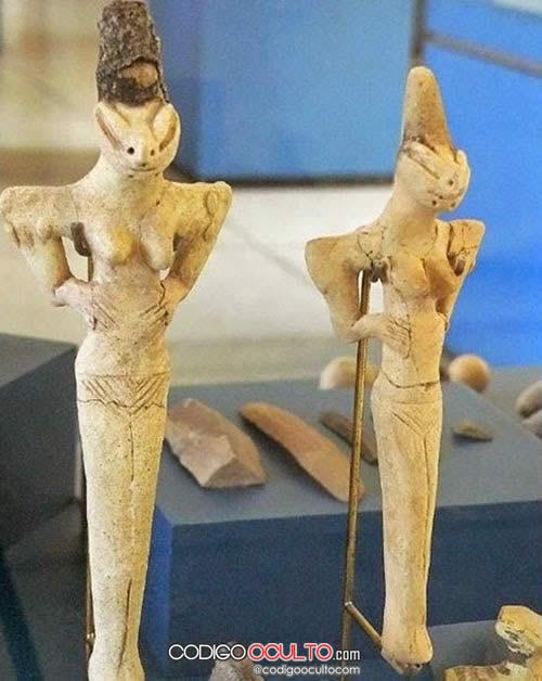 Estatuillas de Al'Ubaid. ¿Representan antiguos reptilianos?