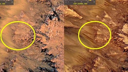 Pirámides en Marte