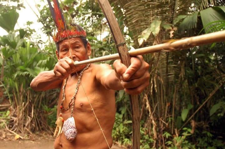 Miembro indígena Shuar
