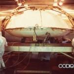 Módulo de aterrizaje Viking preparandose para la esterilización de calor seco, que es actualmente el método más riguroso.