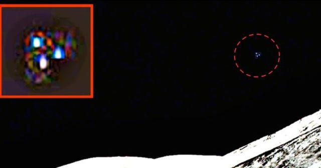 OVNI fotografiado en misión Apolo de NASA. Puede verse un objeto con tres luces.