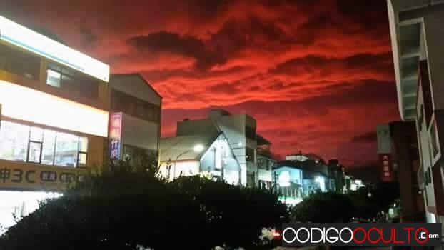 Cielo rojo en Taiwan - Blood sky Taiwan