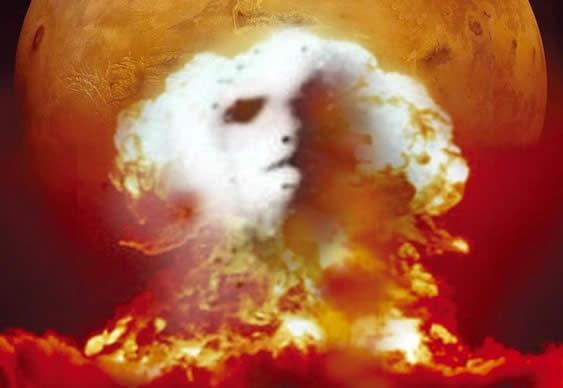 ¿Marte fue destruido por explosiones nucleares?