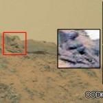 ¿Es esto una estatua de un dios en Marte?