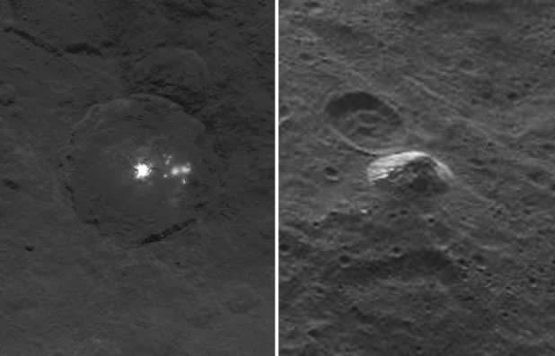 Luces misteriosas en Ceres y una pirámide en medio de nada...