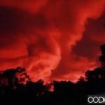 Fenómeno causa pánico: El cielo se volvió rojo sangre en Taiwan (Vídeo)