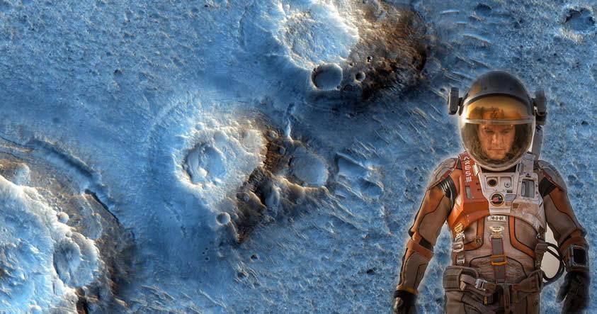 """Estas son las escenas de la """"vida real"""" de la película The Martian"""