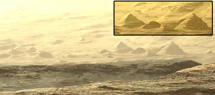 Un Valle de las Pirámides en Marte
