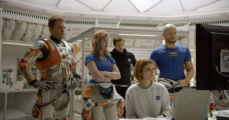 """La tripulación Ares 3 de """"The Martian""""."""
