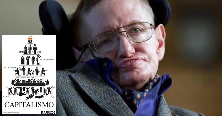 """Stephen Hawking: """"El Apocalipsis será causado por el capitalismo, no por las máquinas"""""""
